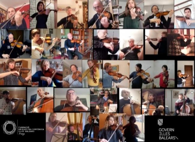 La Sinfónica homenajea a las víctimas y todos los sanitarios con un vídeo interpretando 'La Muerte de Ase', de E. Grieg