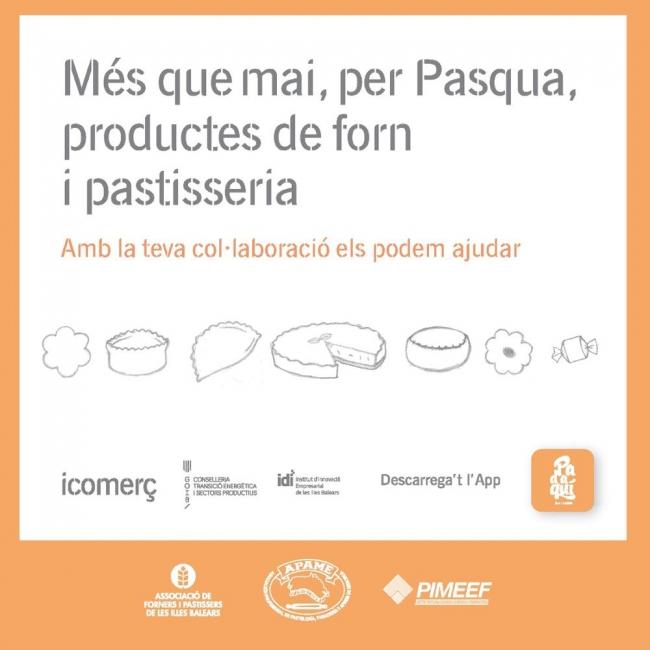 Una campaña de promoción del IDI incentiva la compra de productos de Pascua en los hornos y pastelerías de las Baleares