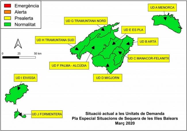 Las reservas hídricas de las Illes Balears se sitúan en el 67%