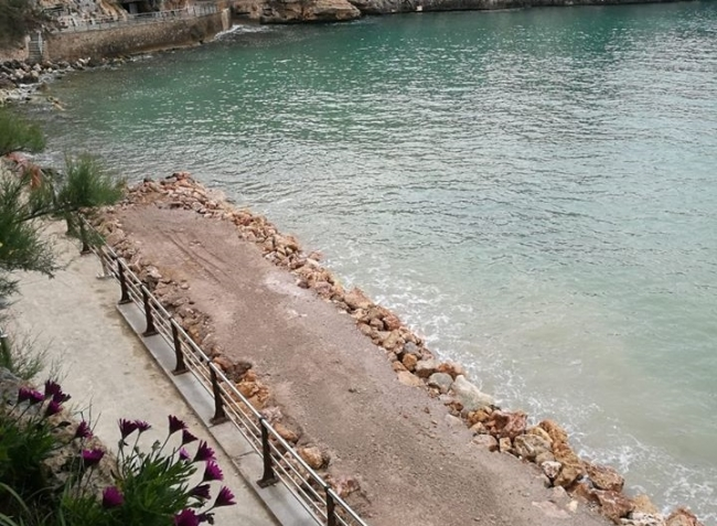 Se precinta la playa de porto cristo por seguridad