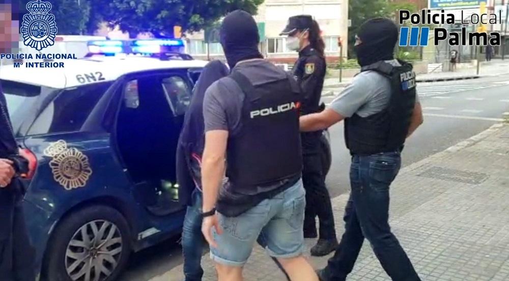 Policía Nacional y Policía Local de Palma intervienen más de cuatro kilos y medio de cocaína