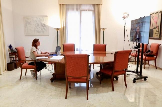 La presidenta Armengol y el ministro Ábalos coinciden en trabajar con Europea para recuperar la movilidad aérea