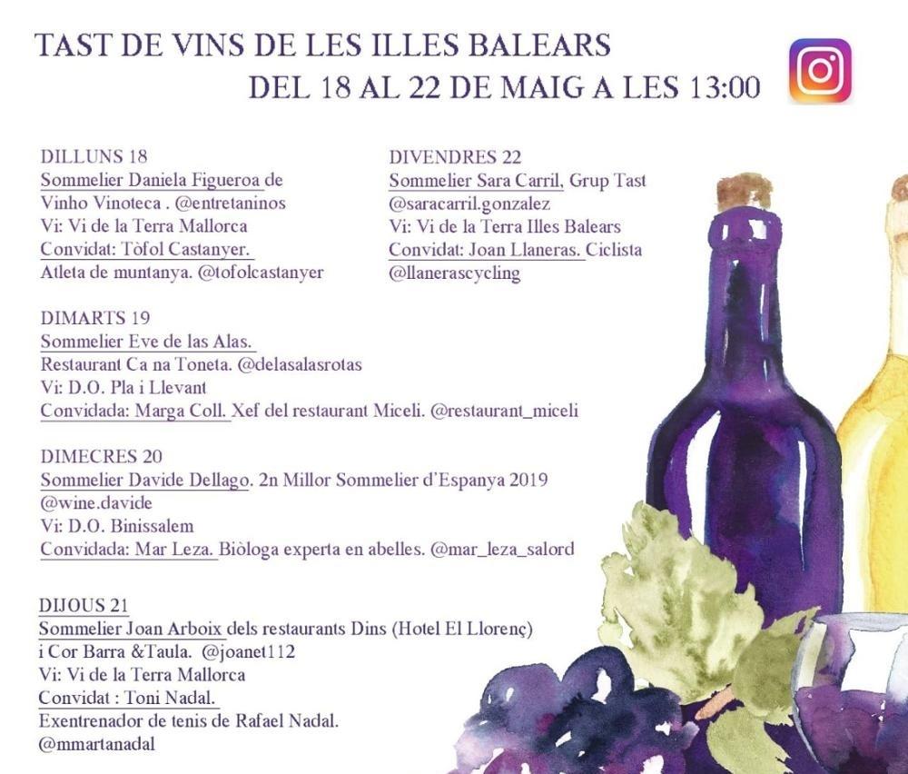 Toni Nadal y Joan Llaneras protagonizan la tercera semana de las catas virtuales de vino de las Baleares