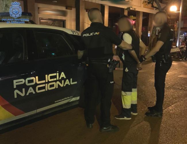 La Policía Nacional de Palma detiene a un hombre por un delito de amenazas