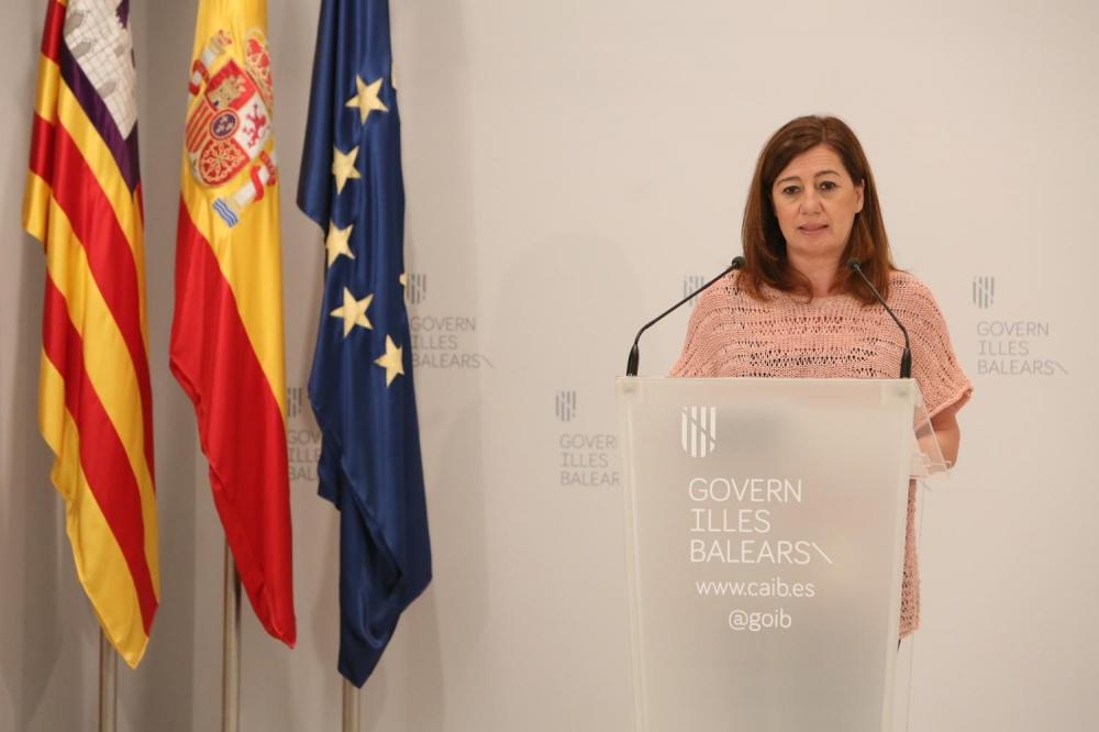 Armengol reclama al Gobierno español la reapertura de la movilidad entre islas