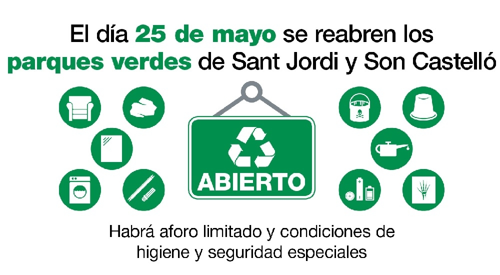 EMAYA reanuda el servicio de recogida de trastos y reabre los parques verdes