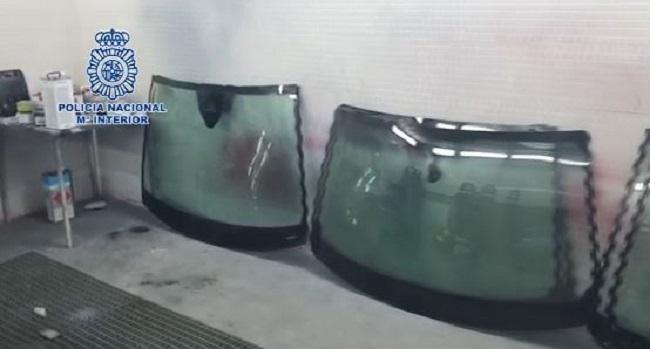 La Policía Nacional desmantela un taller clandestino que desmontaba en pocas horas vehículos sustraídos