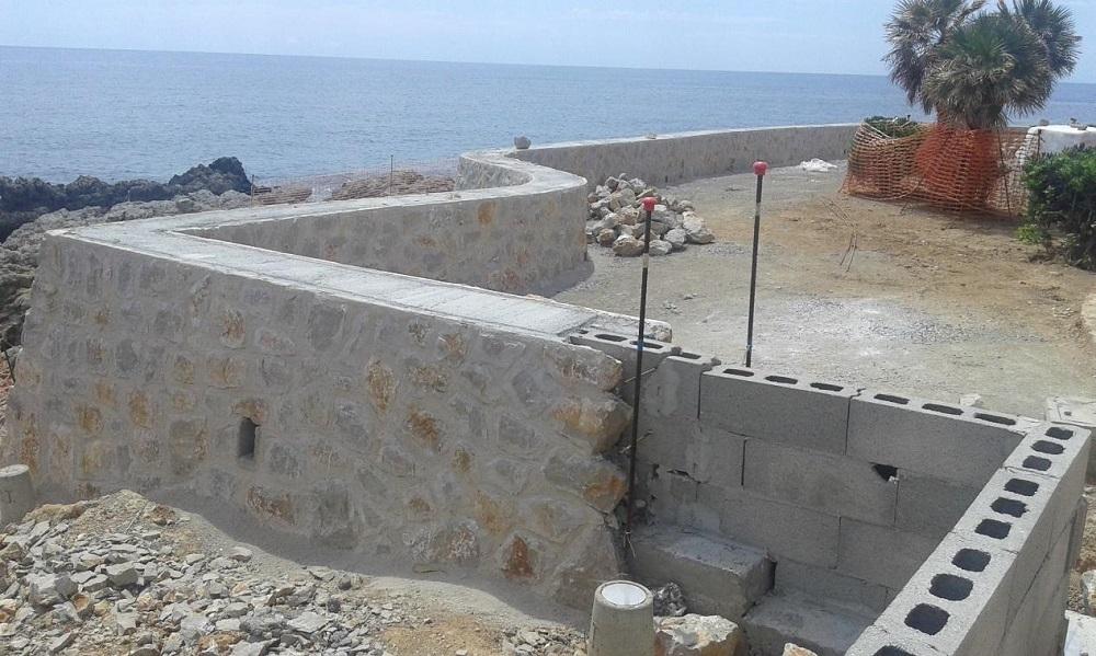 El GOB dice que se ha querido hacer pasar la nueva construcción del muro del paseo de Cala Rajada como una reparación
