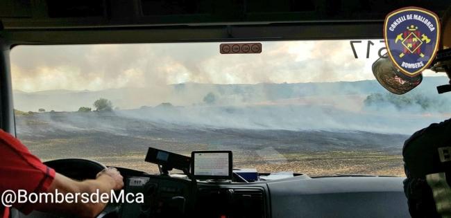 Incendio agrícola en Villafranca