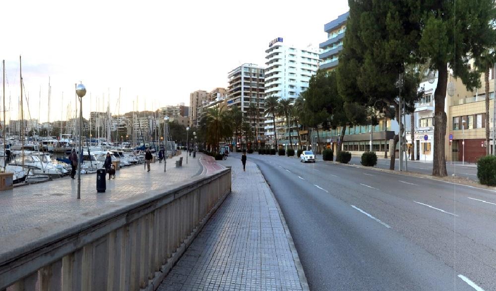El paseo Marítimo de Palma tendrá un espacio para peatones y bicicletas permanente