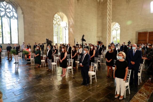 La Llotja ha acogido el homenaje institucional a las víctimas de la COVID-19 en las Illes Balears