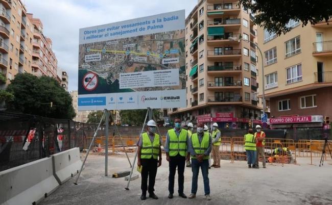 Medi ambient y el ayuntamiento de Palma colaboran en la construcción de un colector que reducirá significativamente los vertidos al mar
