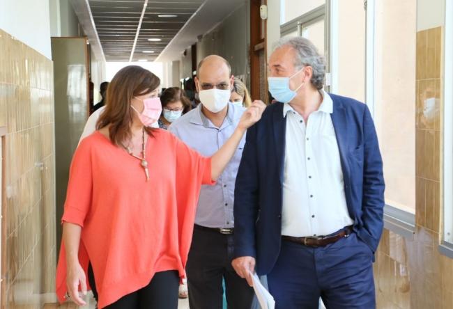 La presidenta Armengol visita la ampliación del CEIP Ses Salines