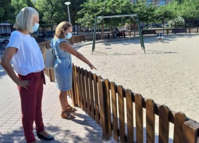 Cs Palma reclama eliminar la arena de los parques infantiles por falta de higiene y accesibilidad