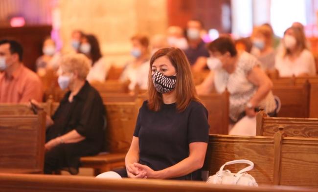 Armengol ha asistido a la misa exequial por las víctimas de la COVID-19