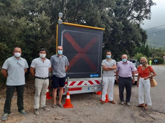 El Consell instala en el Port de Valldemossa la segunda estación móvil de aforo de vehículos de la isla