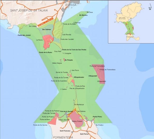 Sancionados con 8.000 euros por practicar esquí acuático dentro de los estanques del Parque Natural de ses Salines de Eivissa y Formentera