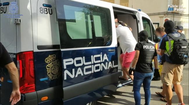 34 detenidos en Palma que formaban una organización de carteristas