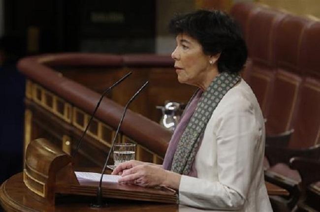 La ministra de Educación comparecerá a petición propia en el Congreso para informar acerca del inicio del curso escolar