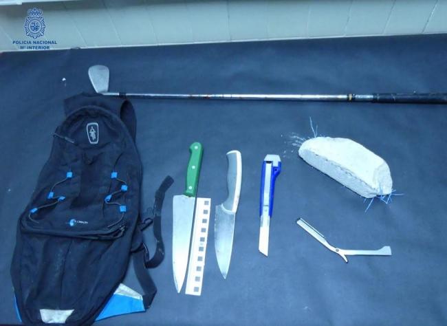 Seis detenidos en Palma en una riña tumultuaria con cuchillos