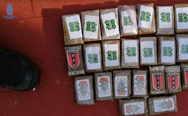 Se incautan 13 kilos de marihuana en cogollos y 3 kilos de hachís en Palma