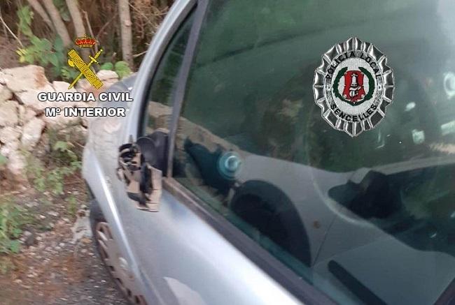 La  Guardia  Civil  ha investigado a  tres menores por daños  en  vehículos  en  la localidad de Sencelles