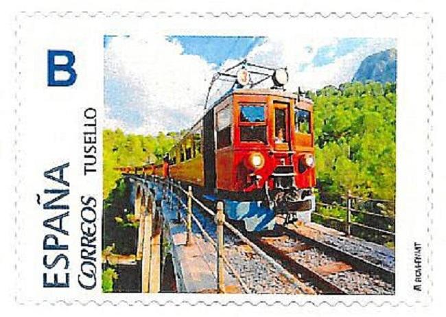 Correos emite un sello con la imagen del Ferrocarril de Sóller