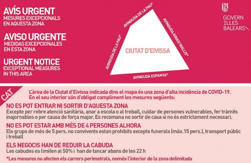 Salud adopta medidas excepcionales y temporales en Ibiza