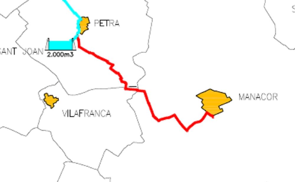 Adjudican la redacción del proyecto de las obras de conducción de agua potable de Petra en Manacor