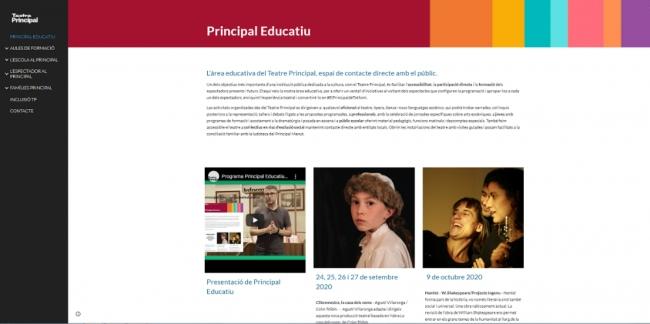 El Teatro Principal amplía su proyecto educativo con más actividades y una nueva web