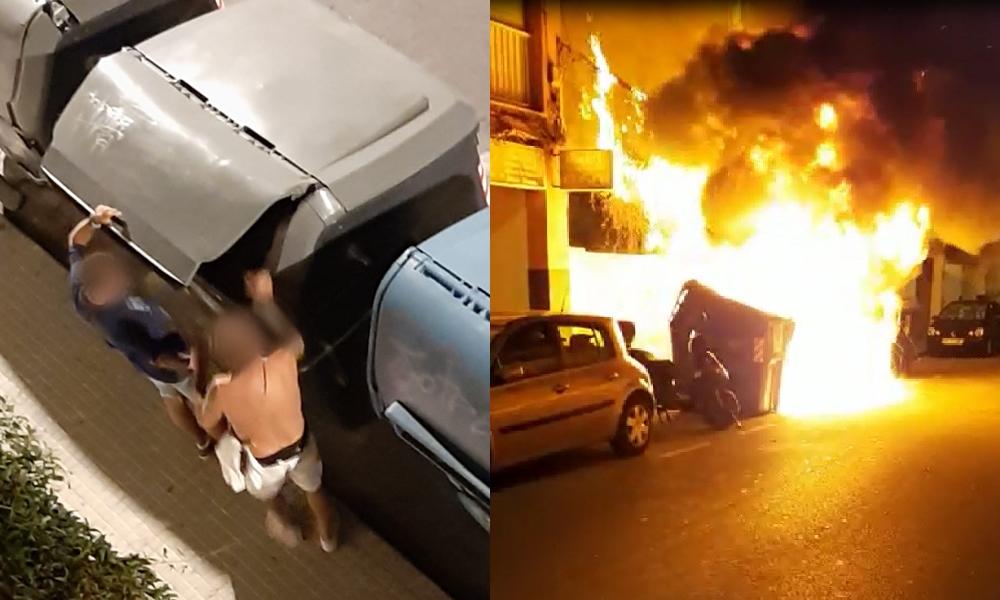 La Policía Nacional ha detenido a dos personas que provocaron varios incendios en contenedores que afectaron a vehículos y fachadas