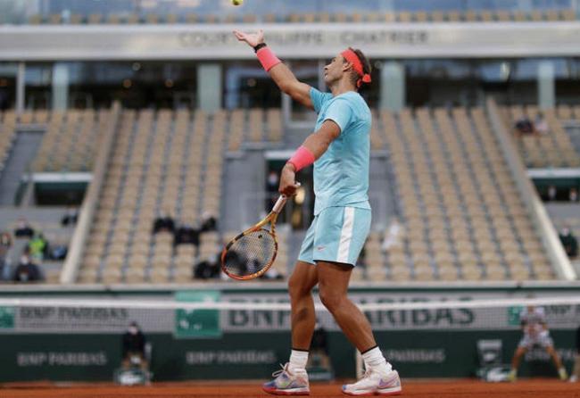 Nadal se impone a Gerasimov por 6-4, 6-4 y 6-2 en su estreno en Roland Garros