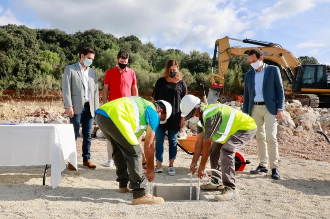 Empiezan las obras de la futura cochera-gasera de los nuevos buses TIB en Artà