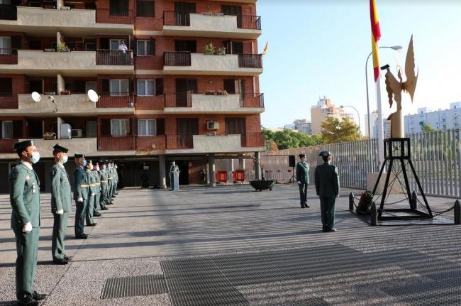 La Guardia Civil realiza un breve acto con motivo de la celebración de Nuestra Señora del Pilar Patrona del Cuerpo