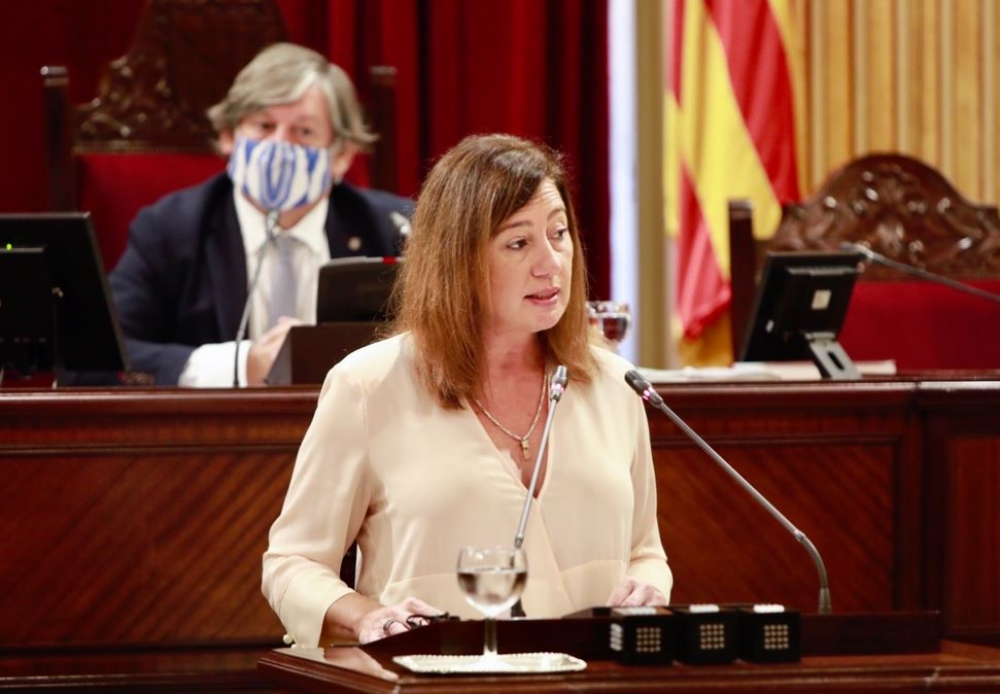 """Armengol anuncia el presupuesto más alto de la historia de las Illes Balears para afrontar """"la crisis más dura"""" provocada por la COVID"""