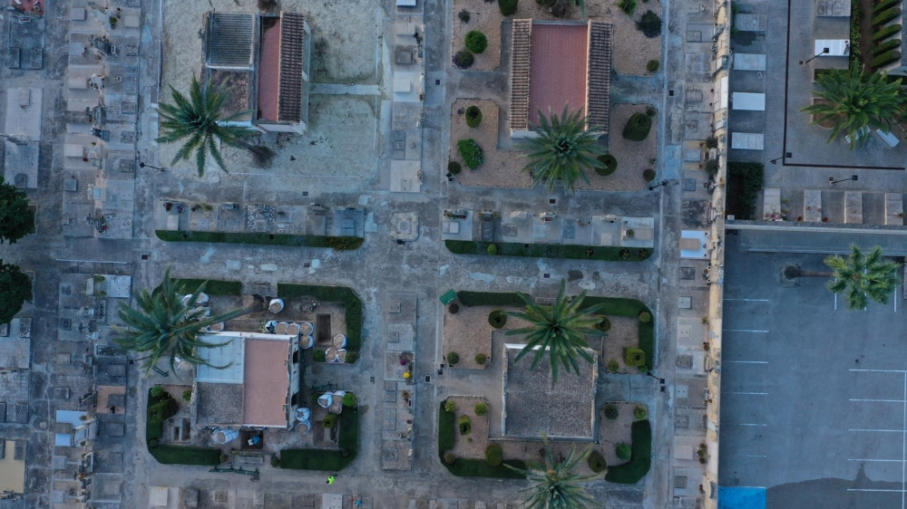 Descartada como fosa común la zona ajardinada intervenida en el cementerio de Porreres