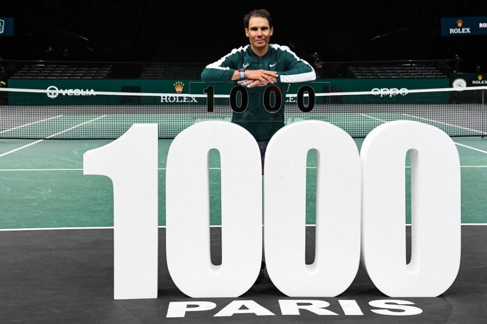 Rafael Nadal logra la victoria número 1000 de su carrera con la victoria sobre Feliciano López en París