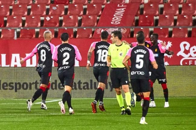 El RCD Mallorca gana al Girona FC en Montilivi (0-1)