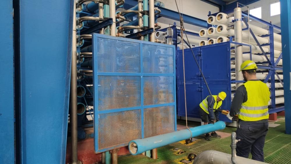Empiezan las obras de remodelación de la tercera línea de producción de la desalinizadora de Formentera