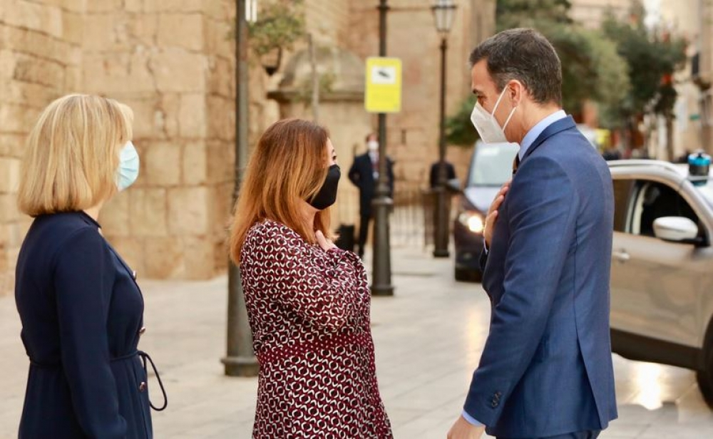 """Costa lamenta que Sánchez """"sólo haya tenido 15 minutos' para atender los problemas de Balears en su visita a Mallorca"""