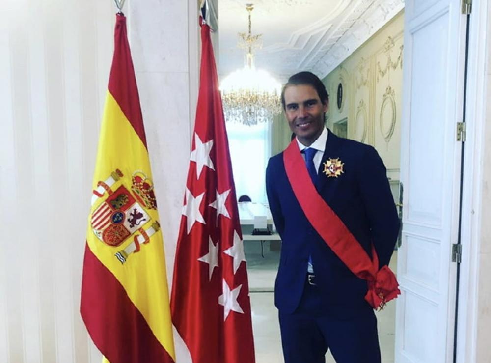 Nadal recibe en Madrid la Gran Cruz de la orden del dos de mayo