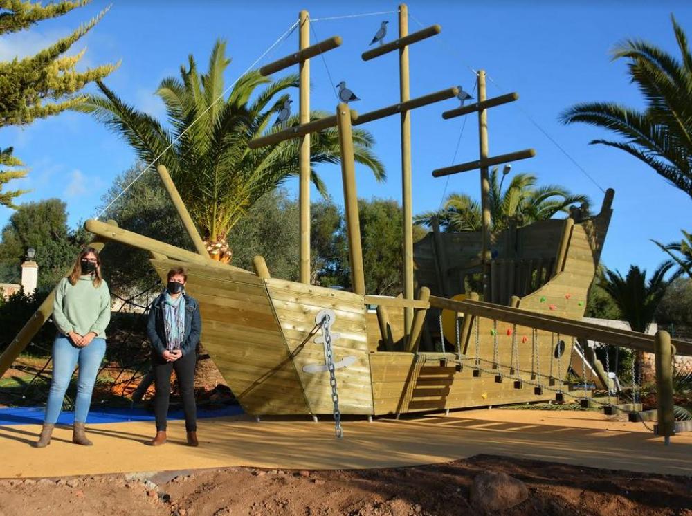 El nuevo parque infantil de s'Alqueria Blanca estará listo en pocas semanas