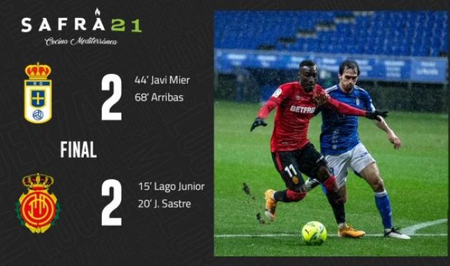 El RCD Mallorca empata ante el Real Oviedo (2-2)