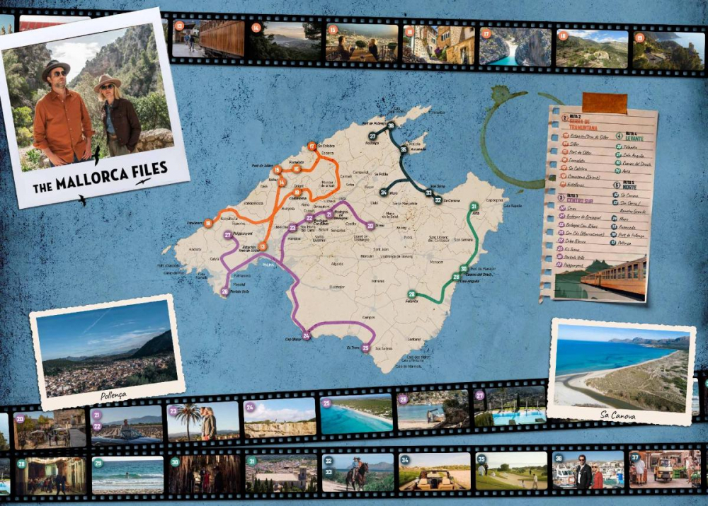 La Mallorca Film Commission edita un movie map de la serie de la BBC 'The Mallorca Files'
