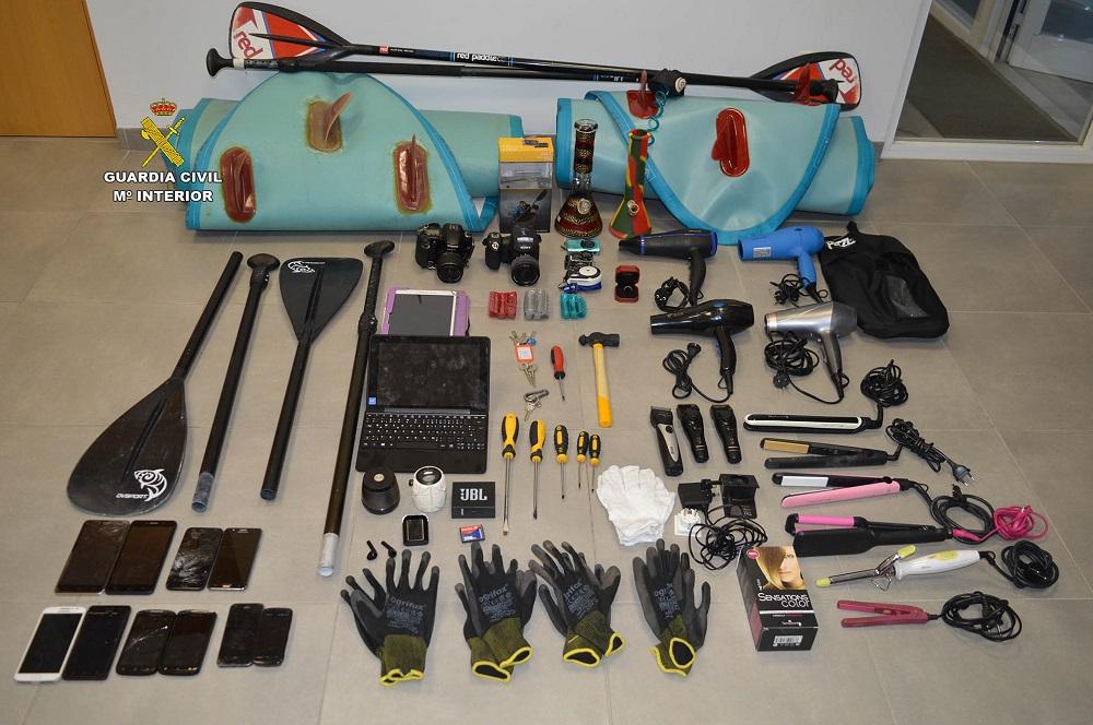 La Guardia Civil ha detenido a 4 personas por numerosos robos en localidades de Calvià y Andratx