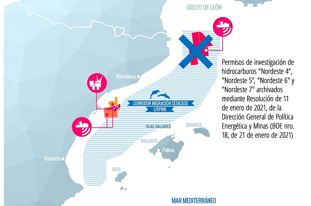 Se archivan los cuatro proyectos de hidrocarburos que aún seguían en tramitación en el Golfo de Leon