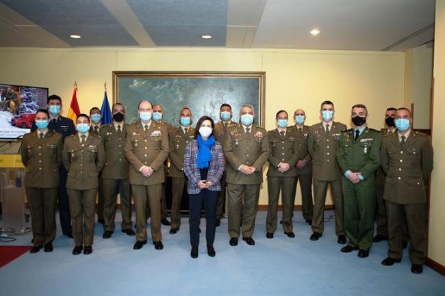 Margarita Robles reconoce el gran trabajo de la UME y del Ejército de Tierra en la borrasca Filomena