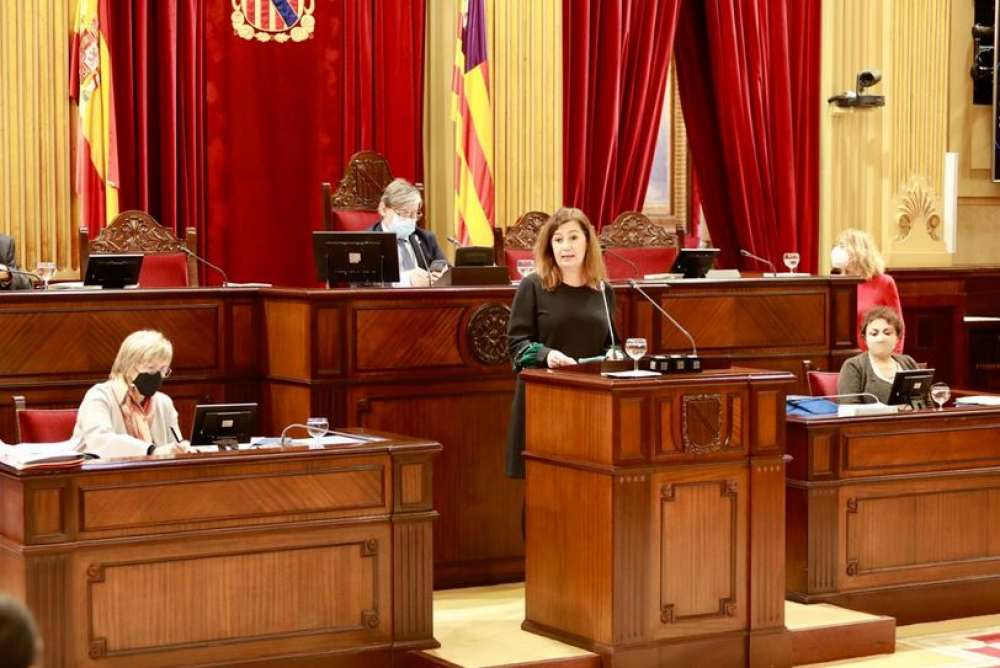 Comparecencia de la presidenta Armengol en el Parlament de las Illes Balears