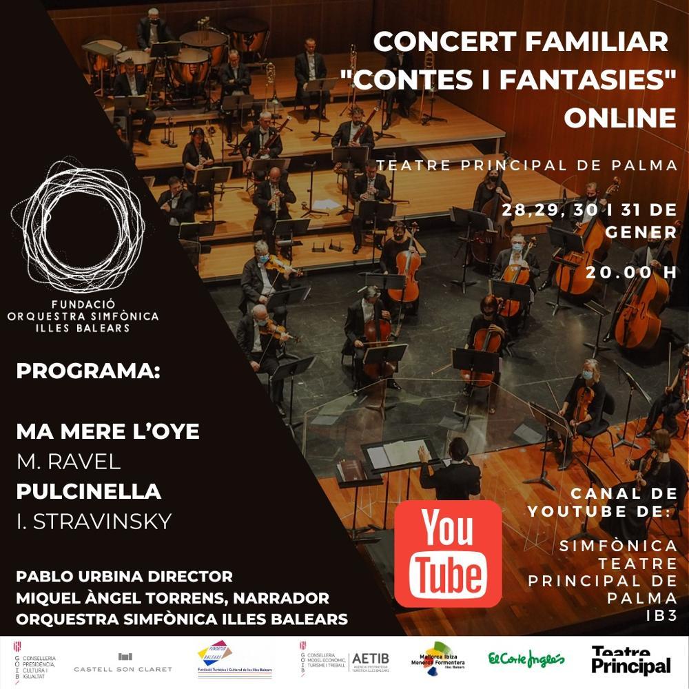 La Simfònica emitirá en línea un concierto familiar desde el Teatre Principal de Palma