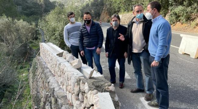 Exigen al Consell de Mallorca la retirada de los 'marges' prefabricados en la Serra de Tramuntana